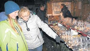 Havelts Knusperhäuschen war ein Anziehungspunkt auf dem Markt.