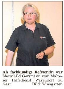 Mechthild Gersmann vom Malteser Hilfsdienst