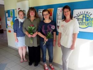 Wechsel im Elterncafé (v.l.n.r.): Steffie Lakenbrink, Marion Uphues, Olga Harms, Britta Sobkowiak